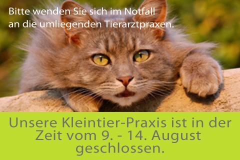 Kleintier-Praxis Ferien